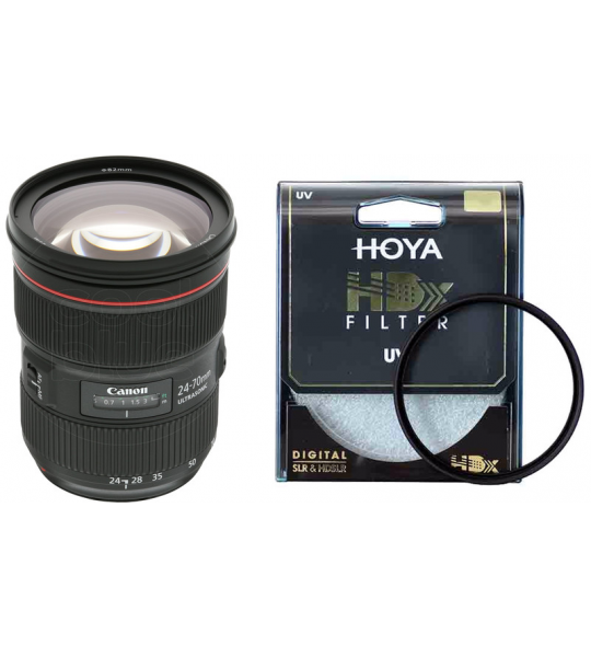 Canon EF 24-70mm f/2.8L II USM + Hoya HDX UV 82mm