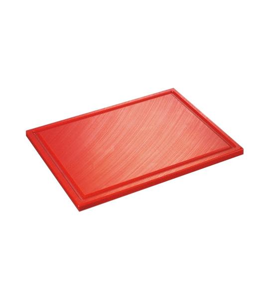 Inno Cuisinno Horeca Snijplank met ril 32,5 cm Rood