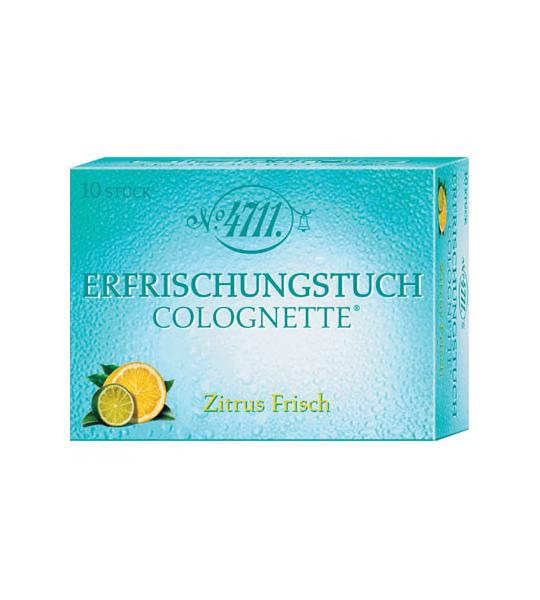 10 stuks 4711 Colognette Tissues Lemon Vrouw