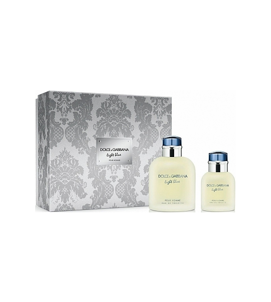 Set Dolce and Gabbana Light Blue Pour Homme Geschenkset Edt 125ml  Edt 40ml