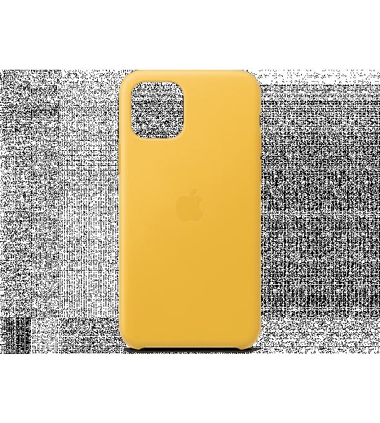 Apple iPhone 11 Pro Leather Case Geel