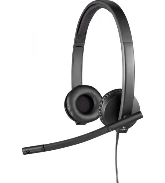 Logitech H570e Stereo USB-A Office Headset