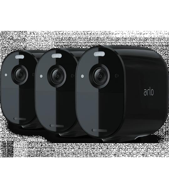 Arlo Essential Floodlight Camera 3-pack Zwart