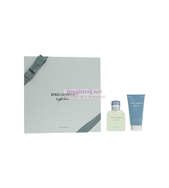 Set Dolce and Gabbana Light Blue Geschenkset Eau De Toilette 75ml  Aftershave Balm 50ml