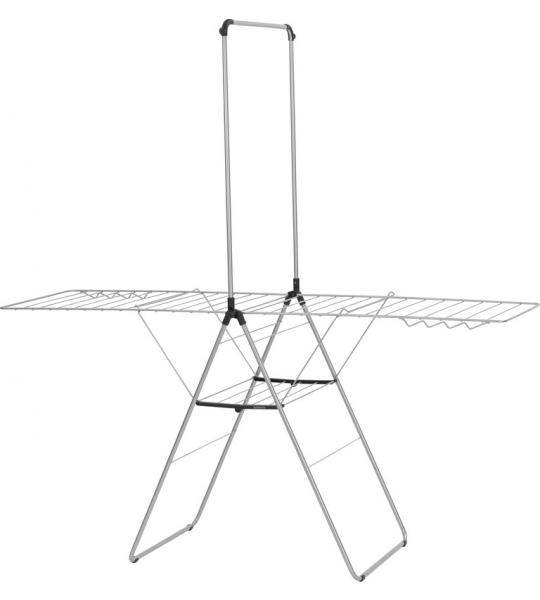 Brabantia HangOn droogrek 25 meter met stang - Metallic Grey