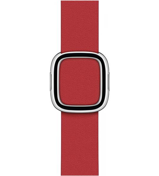 Apple Watch 38/40 mm Modern Leren Horlogeband Scharlakenrood - Large