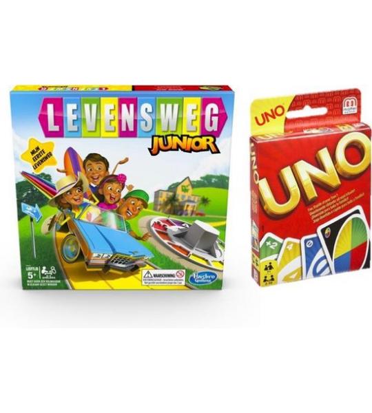 Spelvoordeelset Levensweg Junior - Bordspel & Uno - Kaartspel