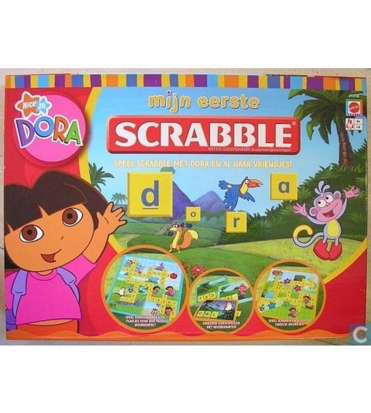 Mattel - Dora mijn eerste Scrabble - scrabble junior - gezelschapsspel