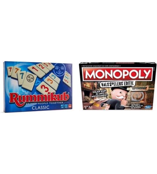 Gezelschapsspel - Monopoly Valsspelers & Rummikub - 2 stuks
