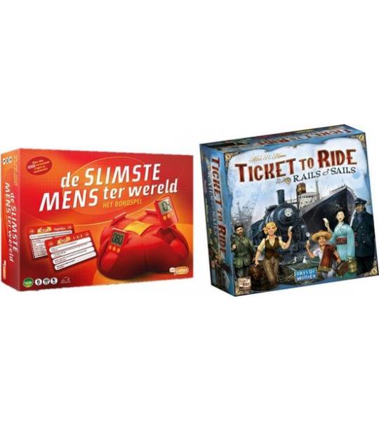 Spelvoordeelset Ticket to Ride Rails & Sails - Bordspel & De slimste mens ter wereld - Bordspel