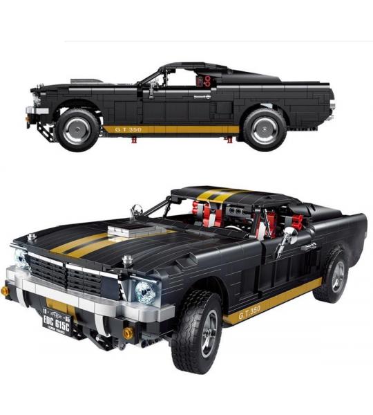 ETB Blocks® Technic Mustang met 1817 stukjes - Super Car - OEM Edition - LEGO Technic Compatibel / Geen Lego