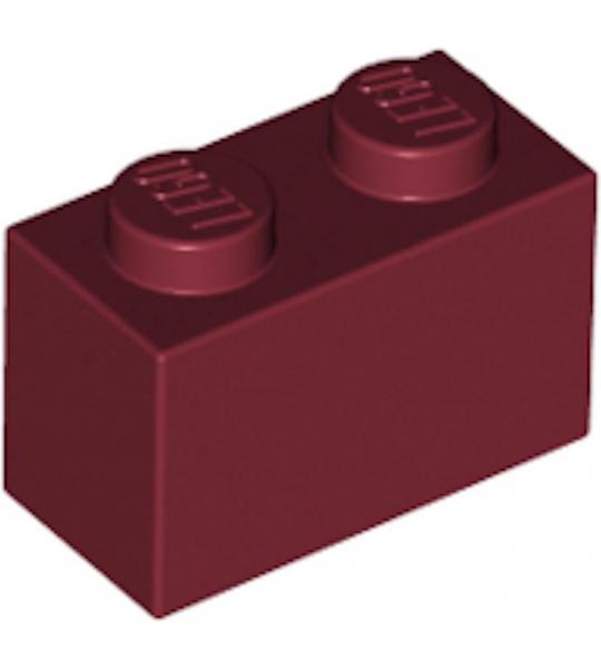 LEGO 3004 Steen 1x2 Donker Rood 100 stuks)