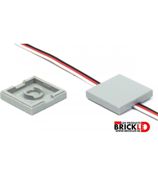 BrickLED 10 x Wegwerk tegel 2x2 - Wit - Verlichting voor LEGO