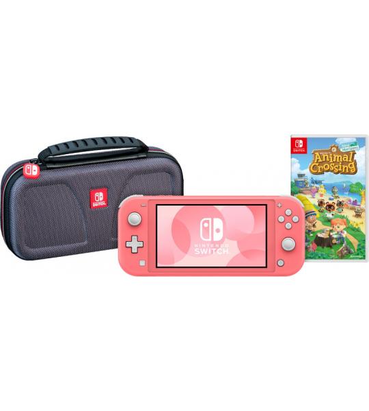 Game onderweg pakket - Nintendo Switch Lite Koraal