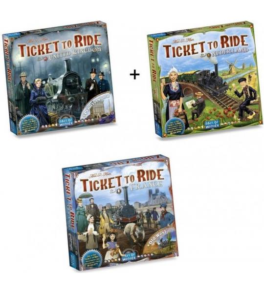 Ticket to Ride - Ultieme Uitbreidingsset - Map Collection - Europa 3 stuks