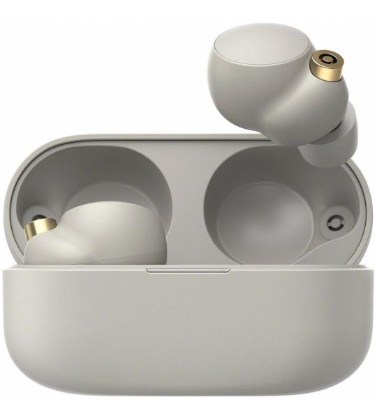 Sony draadloze koptelefoon WF-1000XM4B (Zilver)