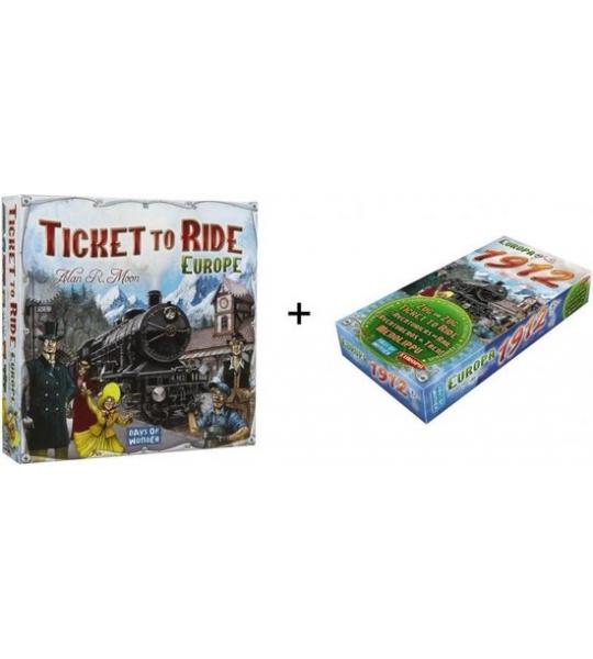 Spel - Ticket to ride Europe / Europa met uitbreiding Europa 1912 - Combi Deal