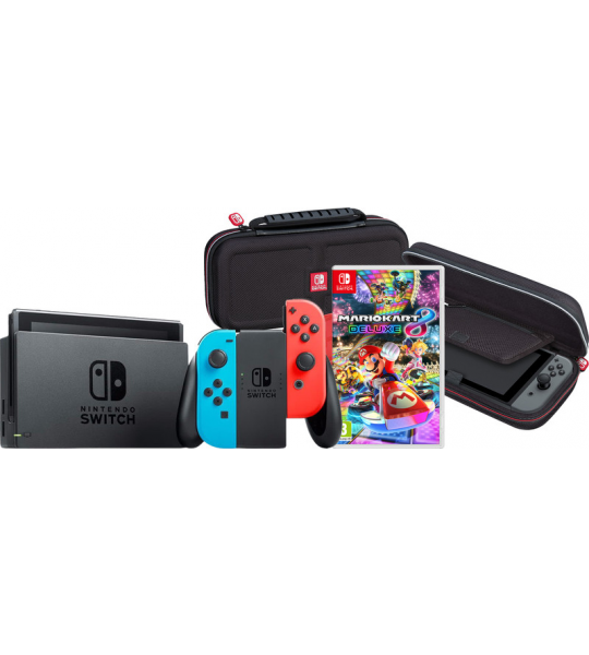 Game onderweg pakket - Nintendo Switch (2019 Upgrade) Rood/Blauw